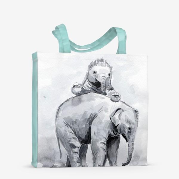Сумка-шоппер «Слонята»
