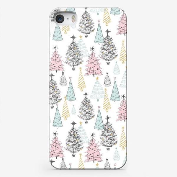 Чехол iPhone «Елки новогодние»