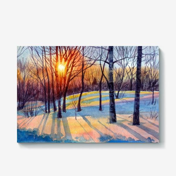 Холст «Зимний закат»