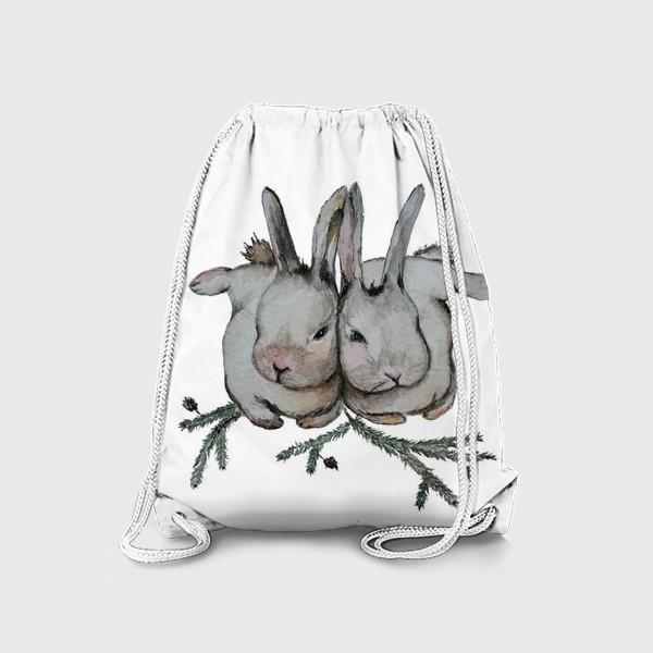 Рюкзак «Нежность. Кролики»