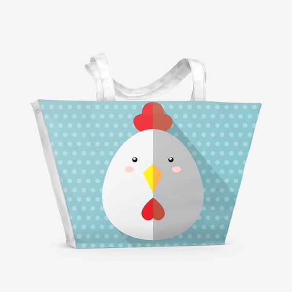 Пляжная сумка «Новый Год Петуха »