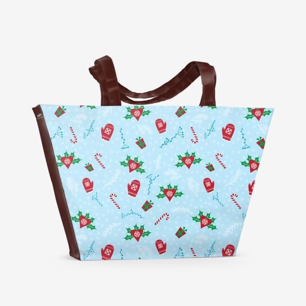 Пляжная сумка «Зимний Паттерн»