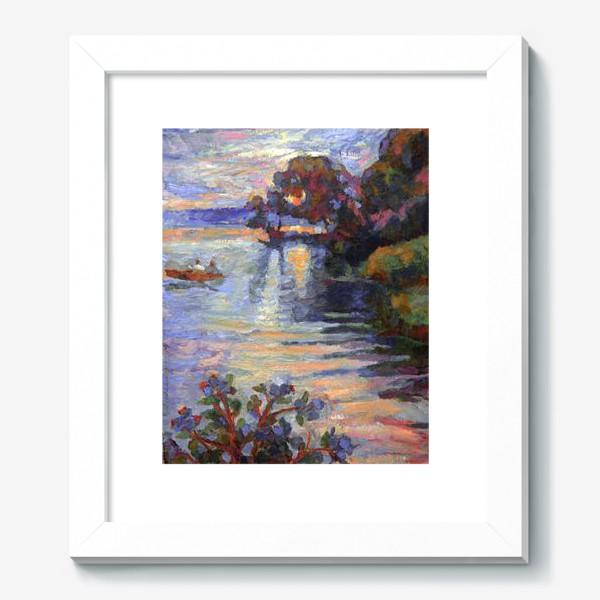 Картина «Evening on the lake | Sunset»