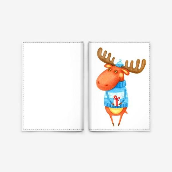 Обложка для паспорта «Лось»