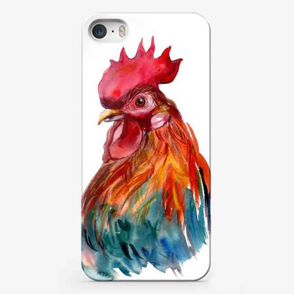 Чехол iPhone «Петушок-красный гребешок»