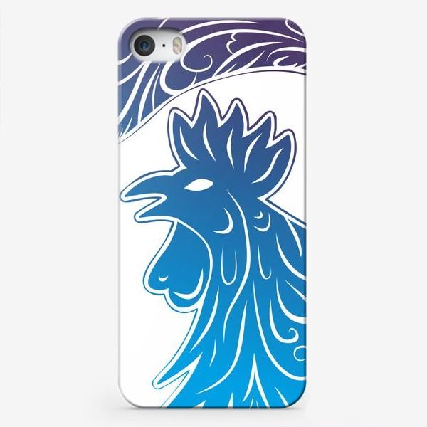 Чехол iPhone «Синий петух»