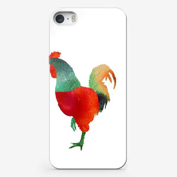 Чехол iPhone «Акварельная иллюстрация Петух, символ 2017 года Hand drawn watercolor rooster»