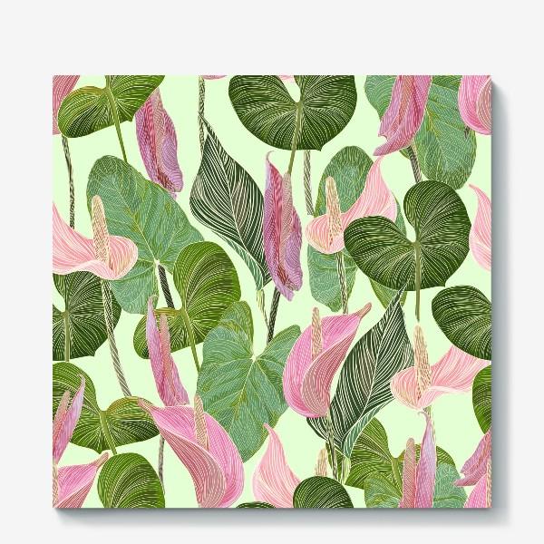 Холст «Pink anthurium»
