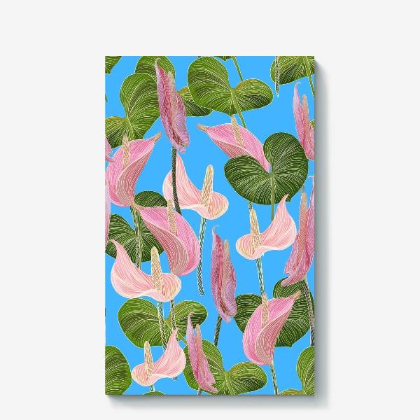 Холст «Pink anthurium 2»