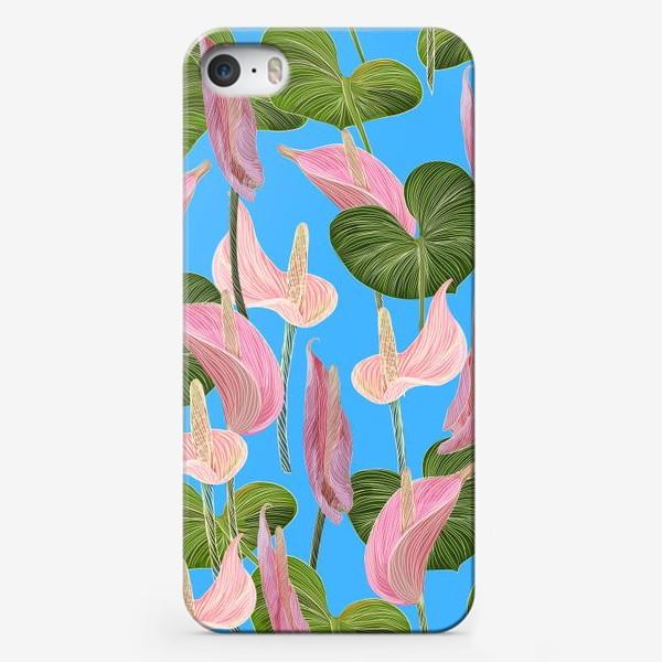 Чехол iPhone «Pink anthurium 2»