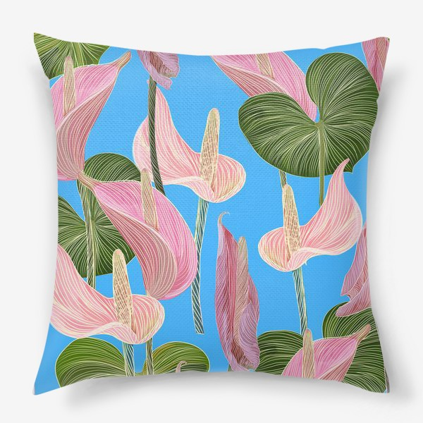 Подушка «Pink anthurium 2»