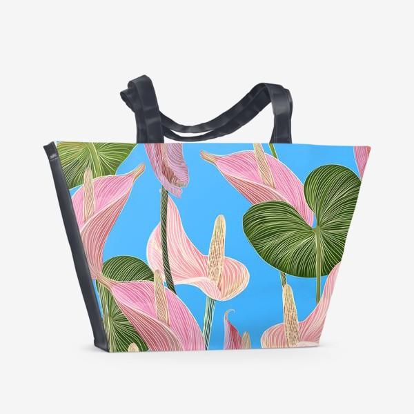 Пляжная сумка «Pink anthurium 2»