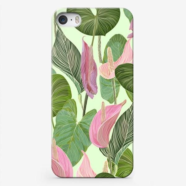 Чехол iPhone «Pink anthurium»