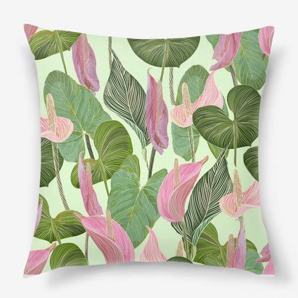 Подушка «Pink anthurium»