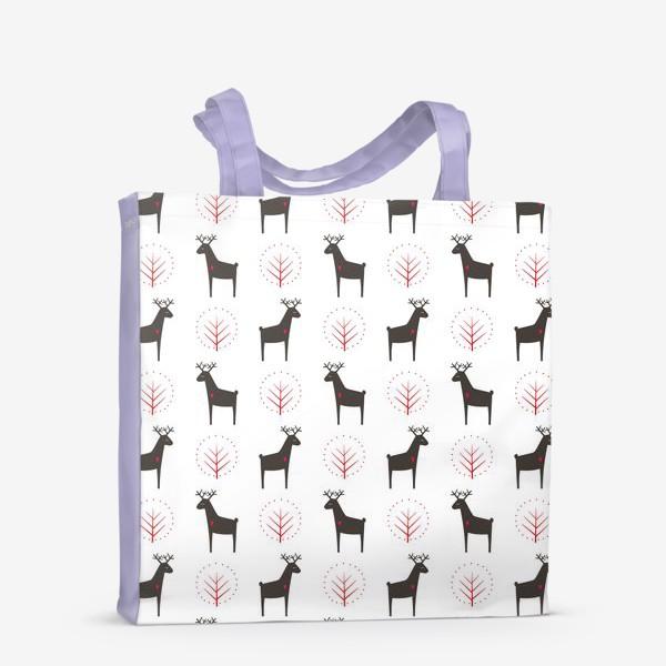 Сумка-шоппер «Рождественские олени»
