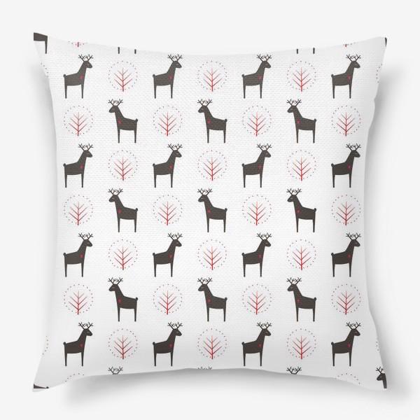 Подушка «Рождественские олени»