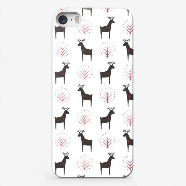 Чехол iPhone «Рождественские олени»