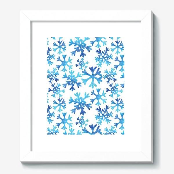 Картина «Снежинки в акварели»