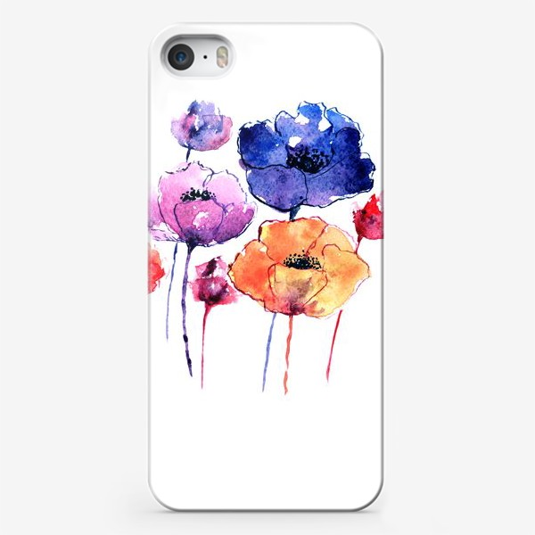 Чехол iPhone «Летние маки»