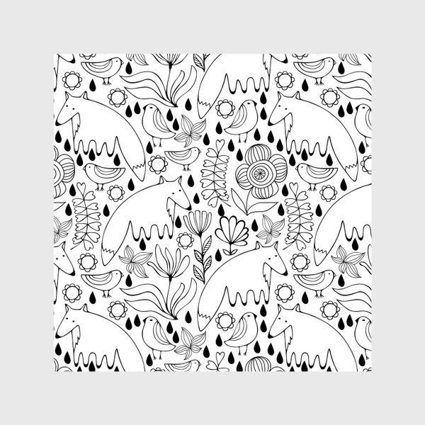 Шторы «Белые лисы»