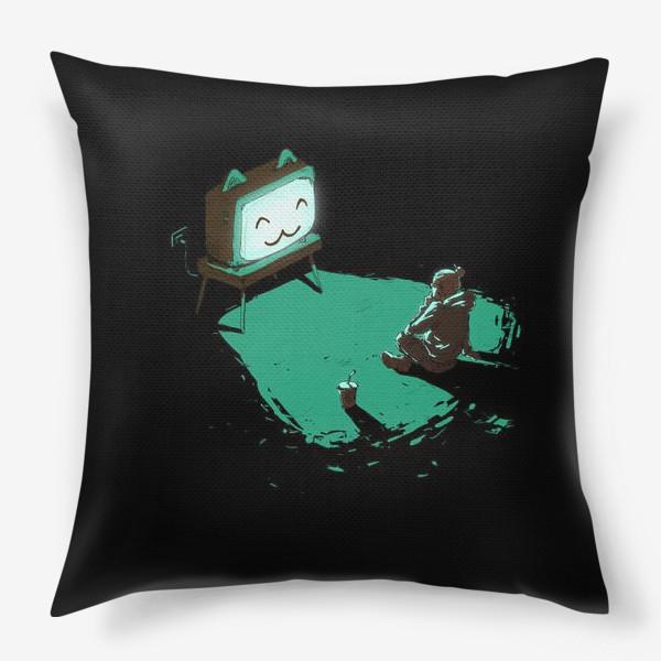Подушка «Кот-телевизор»