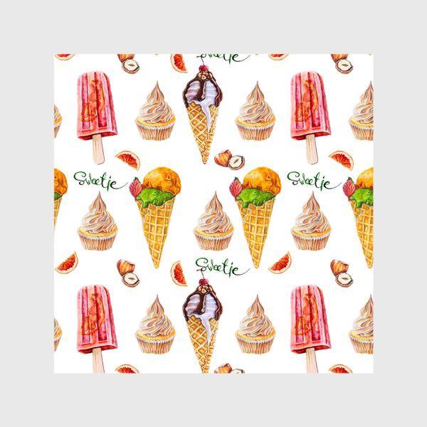 Шторы «Сладости, мороженое и кексики»