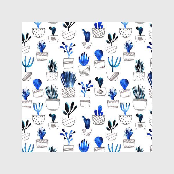 Шторы «Синие кактусы»