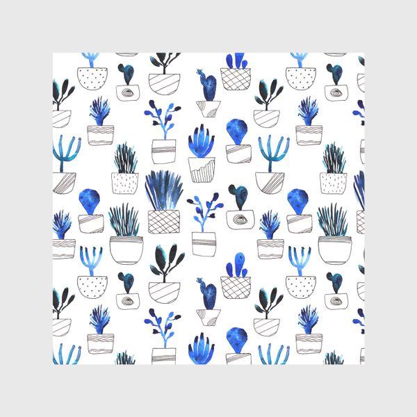 Скатерть «Синие кактусы»