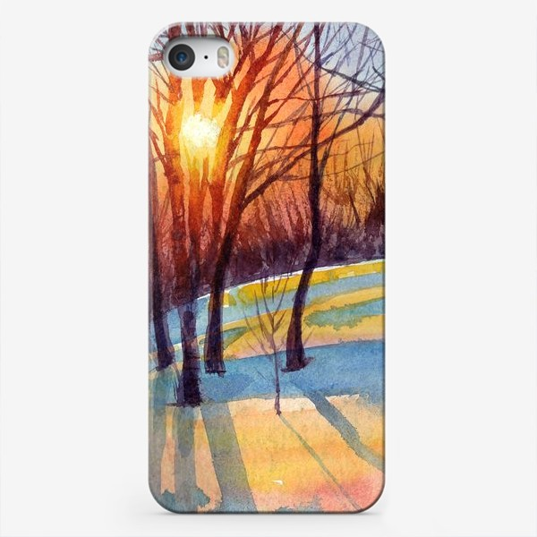 Чехол iPhone «Зимний закат»