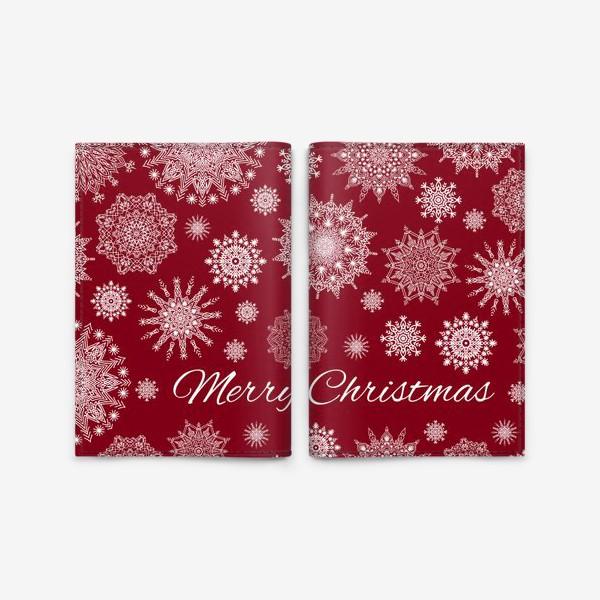 Обложка для паспорта «Снежный узор к Рождеству»