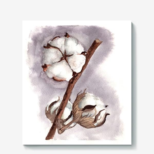Холст «коробочки цветок хлопка»