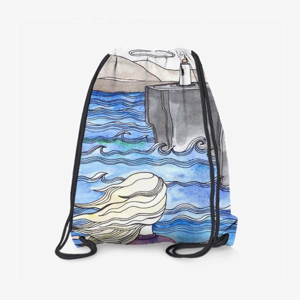 Рюкзак «Девушка и маяк»