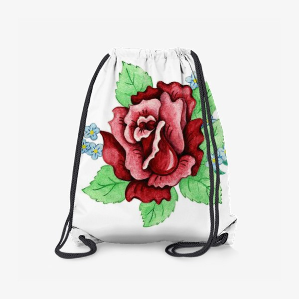 Рюкзак «Декоративная роза с незабудками»