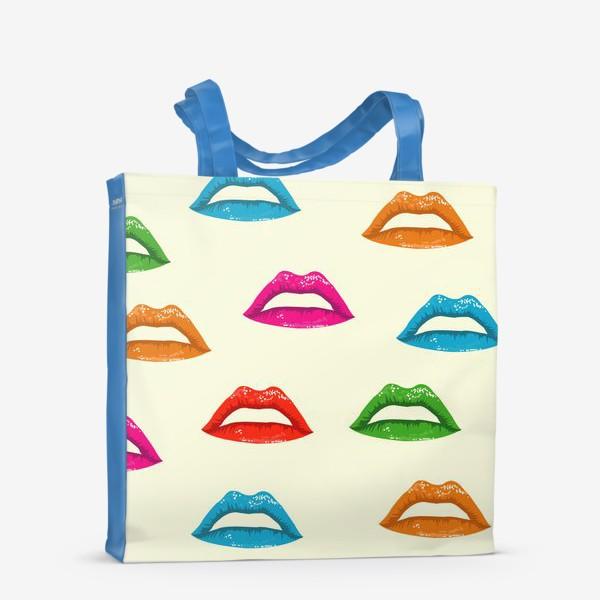 Сумка-шоппер «bright lips»