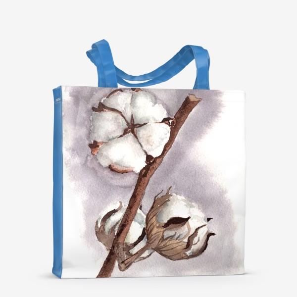 Сумка-шоппер «коробочки цветок хлопка»