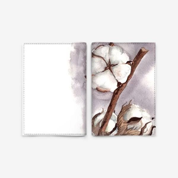 Обложка для паспорта «коробочки цветок хлопка»