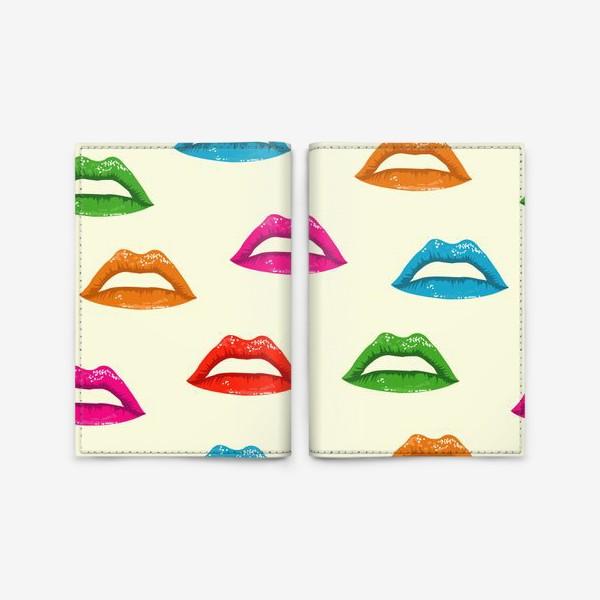 Обложка для паспорта «bright lips»