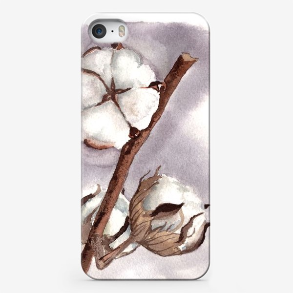 Чехол iPhone «коробочки цветок хлопка»