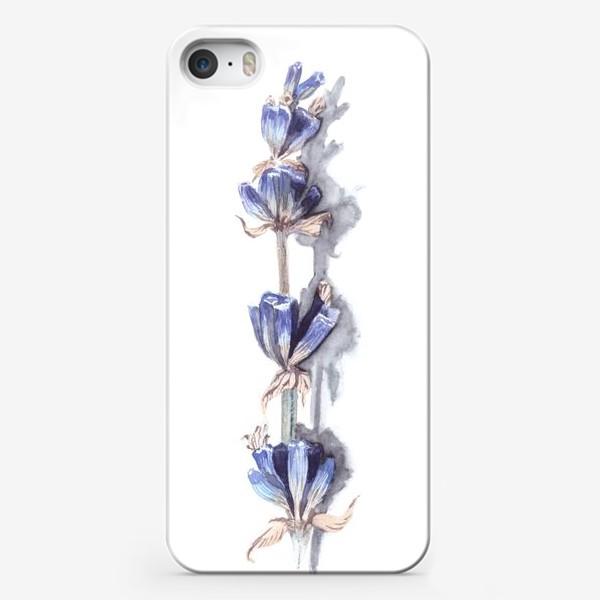 Чехол iPhone «Нежная пастельная веточка лаванда»