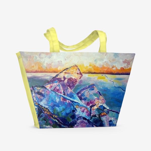 Пляжная сумка «Лёд»