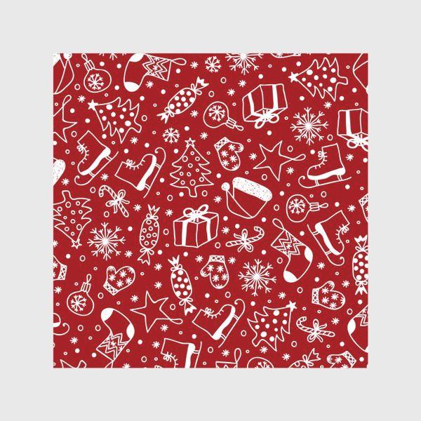 Скатерть «Red Christmas Pattern»