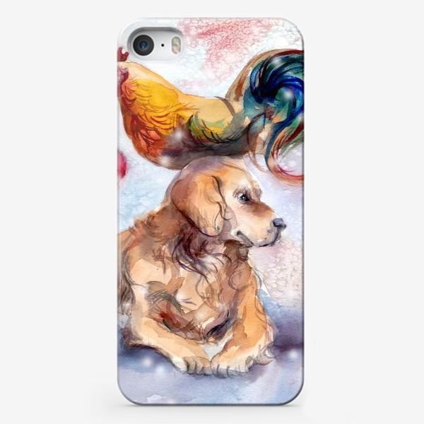 Чехол iPhone «Петух и собака»