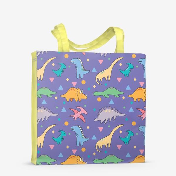 Сумка-шоппер «Динозавры фиолет»