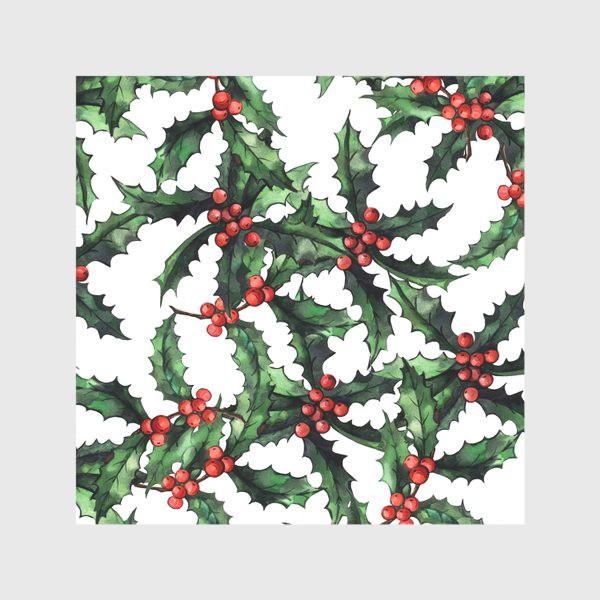 Скатерть «Акварельный Рождественский паттерн »