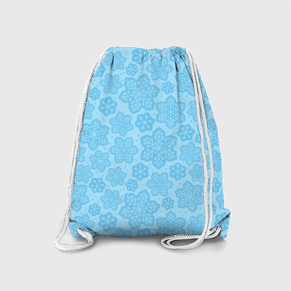 Рюкзак «Голубой паттерн со снежинками »