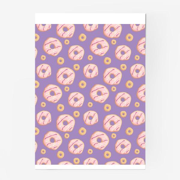 Постер «Пончики клубничные»