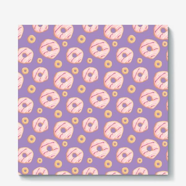 Холст «Пончики клубничные»
