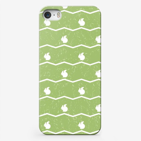 Чехол iPhone «Паттерн с белками и зигзагами»