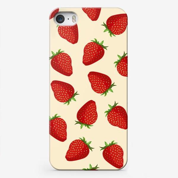 Чехол iPhone «strawberry»