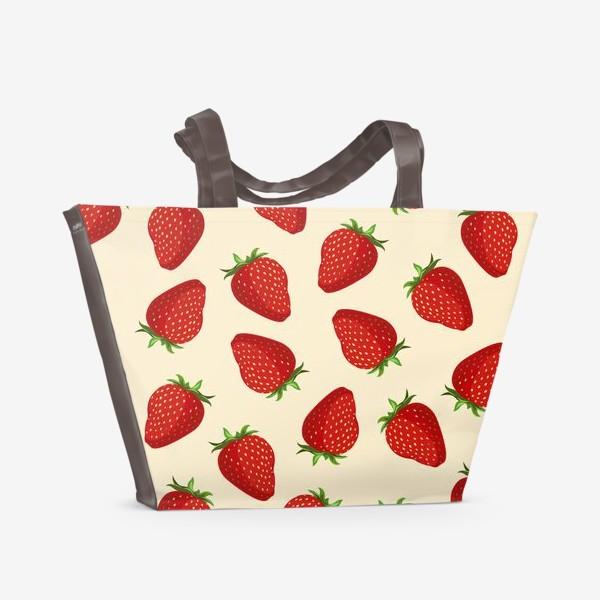 Пляжная сумка «strawberry»